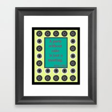 Let There Be Cake Framed Art Print