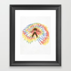 Tie Die Framed Art Print
