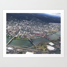Portland from Above Art Print