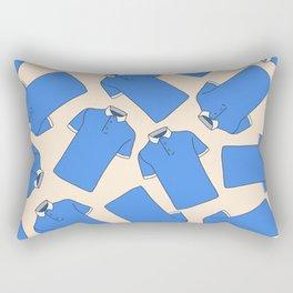 Shopping Blue Poloshirts Rectangular Pillow