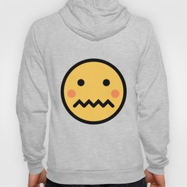 Smiley Face   A Bit Shamed Rosey Cheeks Expressionless Face Hoody