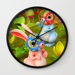 Lucha Brothers Wall Clock