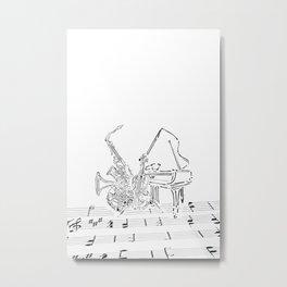 The band Metal Print