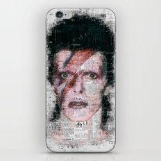 David Bowie Newspaper Style iPhone & iPod Skin