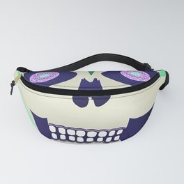 Sugar Skull with Jeweled Eyes Fanny Pack
