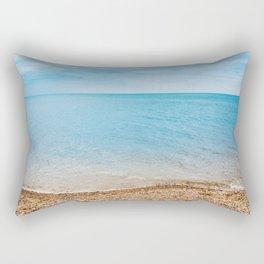 sea sand beach 4 Rectangular Pillow