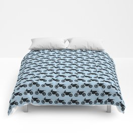Dirt Bikes // Light Blue Comforters