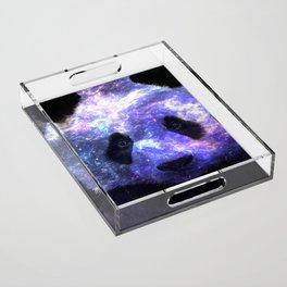 Galaxy Panda Space Colorful Acrylic Tray