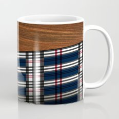 Wooden Scottish Tartan Mug