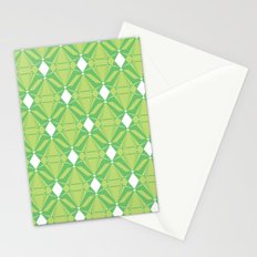 Abstract [GREEN] Emeralds Stationery Cards