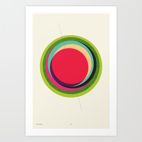 FUTURE GLOBES 002 Art Print