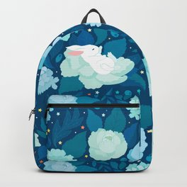 Find a bunny in a night garden Backpack