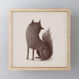 Wolfie Framed Mini Art Print