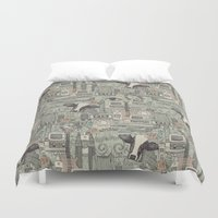 airplanes Duvet Covers featuring Dolly et al by Sharon Turner