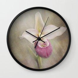 Cinderella's Orchid Wall Clock