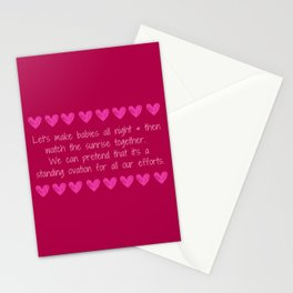 Love Making is Caring Stationery Cards