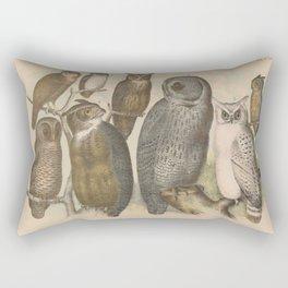 Naturalist Owls Rectangular Pillow