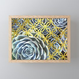 Succulent Geometric Circle Framed Mini Art Print