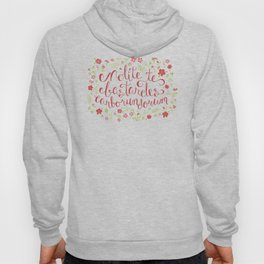 Don't Let the Bastards Grind You Down - Red Floral Hoody