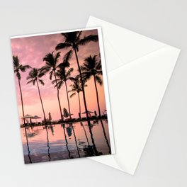 Pastel Sunset Palms Stationery Cards