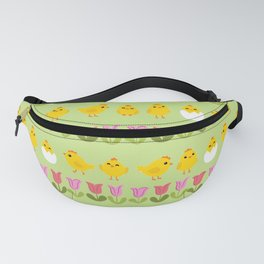 Easter - chick and tulips Fanny Pack