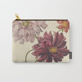 Willem Hekking - dahlias - 1835/1904 Carry-All Pouch