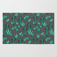 Prickly Pear - Charcoal by Andrea Lauren Rug