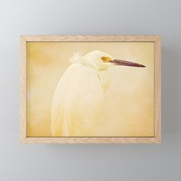Elegance of a Snowy Egret Framed Mini Art Print