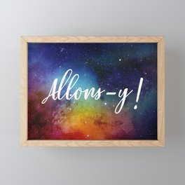 Allons-y! Framed Mini Art Print