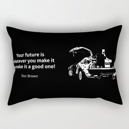 Back to the Future Doc Brown Quote 80s poster Rectangular Pillow