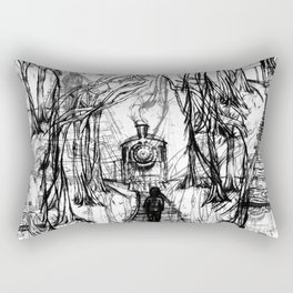 Old Railroad Rectangular Pillow