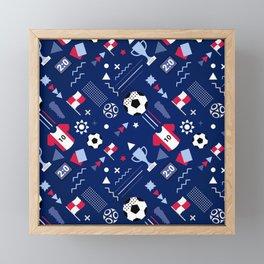 Love Football Background Framed Mini Art Print