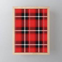 Red + Black Plaid Framed Mini Art Print