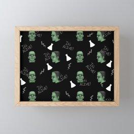 Frankenstein Pattern Framed Mini Art Print