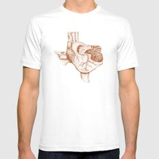 The Heart of Texas (UT) MEDIUM Mens Fitted Tee White