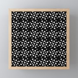 stars 12 black and white Framed Mini Art Print