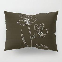 Amancay Wildflower in black Pillow Sham