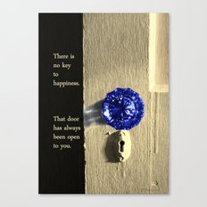 Key to Happiness Canvas Print