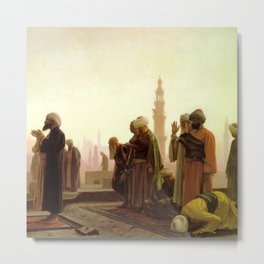 Islamic Masterpiece 'Prayer in Cairo' by Jéan Leon Gerome Metal Print