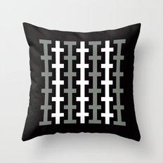 Black & White stripe pattern Throw Pillow