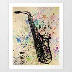 Sax-1 Art Print