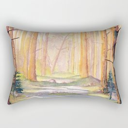 Down The Forest Path Rectangular Pillow
