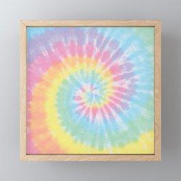 Pastel Tie Dye Framed Mini Art Print