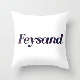 Feysand galaxy design white Throw Pillow