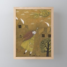 Autumn Kite Framed Mini Art Print