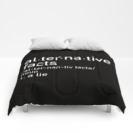 alternative facts definition Comforters