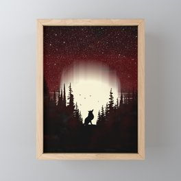 Red Forest Fox Framed Mini Art Print