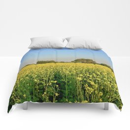 Mustard flowers Comforters