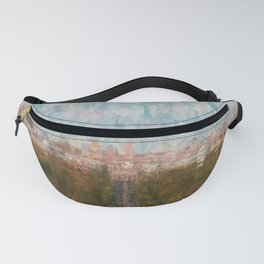 Berlin skyline  impressionism style Illustration  / abstract landscape drawing Fanny Pack