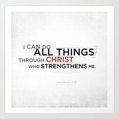 Philippians 4:13 II Art Print